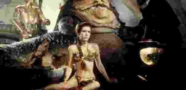 """Princesa Leia usa figurino sexy ao virar escrava em """"O Retorno de Jedi"""" - Divulgação - Divulgação"""