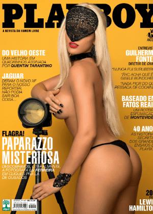 """Paparazzo Misteriosa será a capa da última """"Playboy"""" veiculada pela editora Abril - Divulgação/Playboy"""