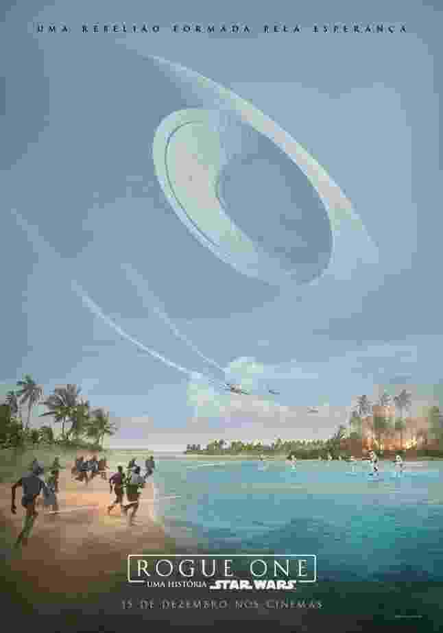 """Novo pôster de """"Rogue One"""" traz Estrela da Morte no horizonte de planeta onde acontece batalha - Divulgação"""