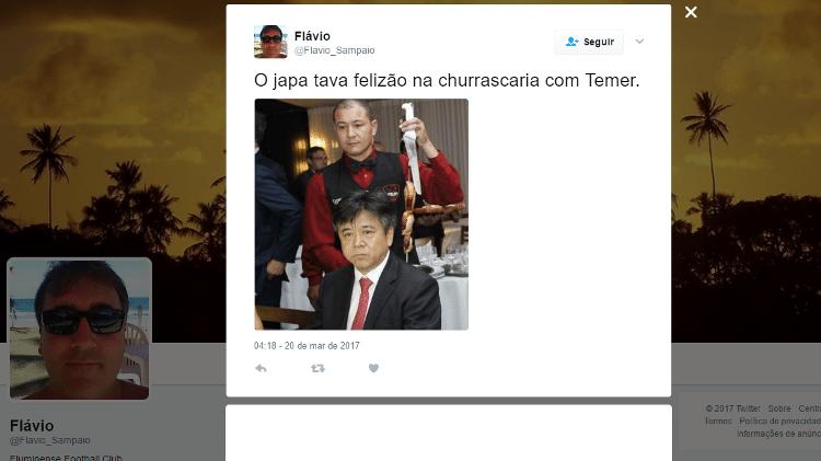 Reprodução/Twitter/Flavio_Sampaio
