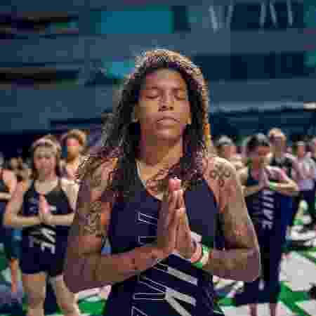 Rafaela Silva aposta na ioga para melhorar a flexibilidade - Cadu Vigilia/Divulgação/Nike