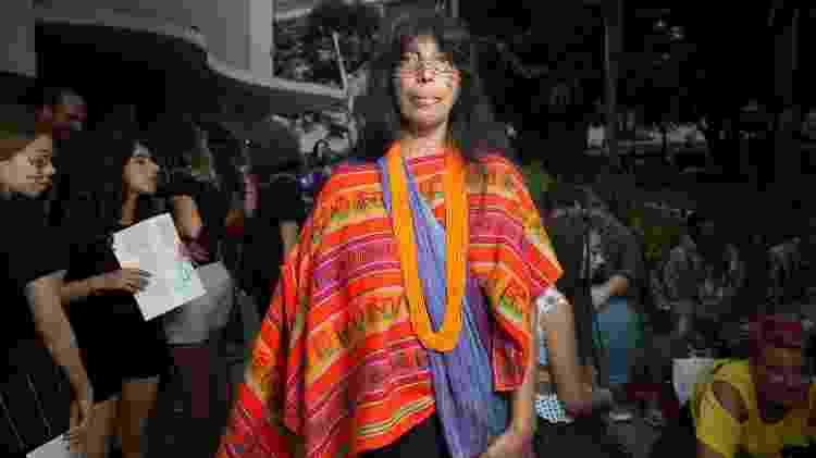 Sônia Ará, 43 anos, liderança indígena do Jaraguá  - Gabriela Dibella/ UOL - Gabriela Dibella/ UOL