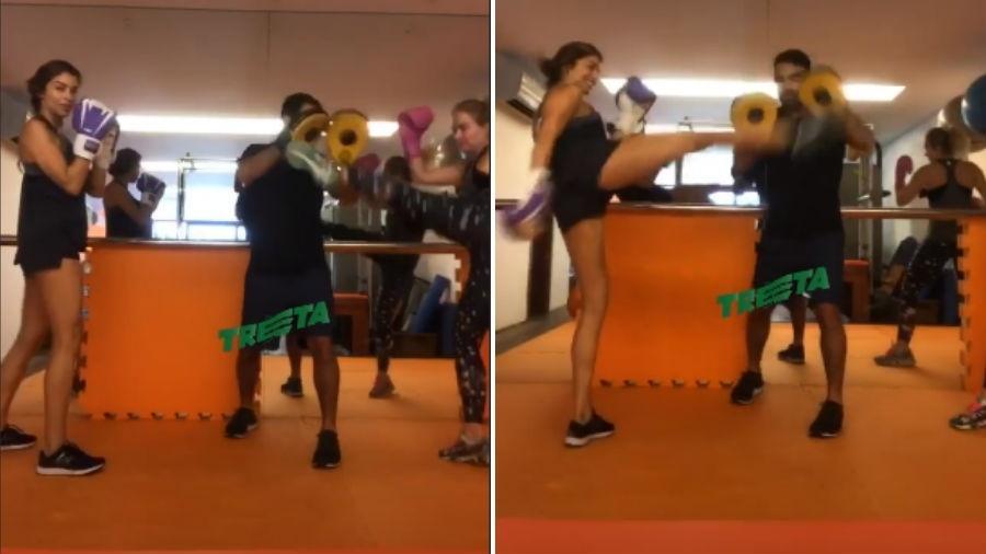 Grazi Massafera e Angélica treinam com Chico Salgado - Reprodução/Instagram