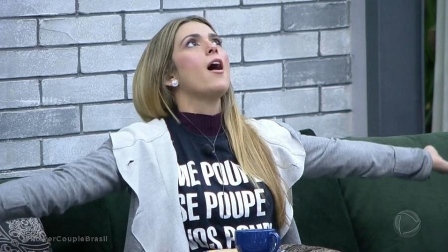 """Nadja Pessoa no """"Power Couple Brasil"""" - Reprodução/TV Record"""