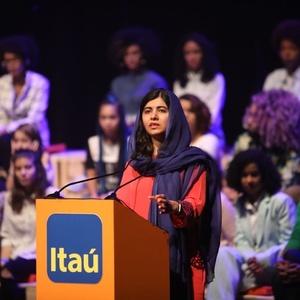 Malala em evento em São Paulo