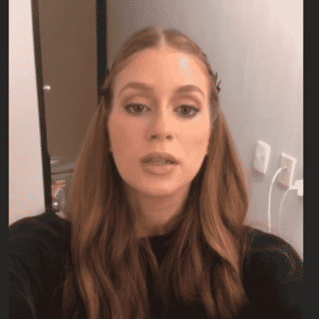 """Marina Ruy Barbosa no último dia das gravações de """"Deus Salve o Rei"""" - Reprodução/Instagram"""