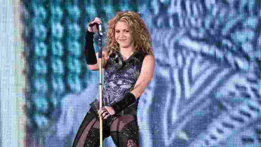 "Shakira faz show da ""El Dorado Tour"" no Madison Square Garden, em Nova York - Noam Galai/Getty Images"