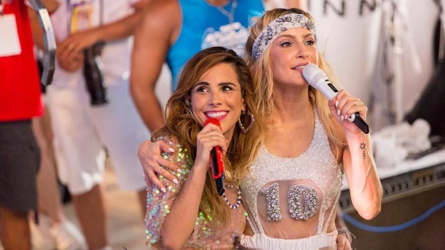 Wanessa Camargo e Claudia Leitte na transmissão do último Band Folia - Divulgação/Band