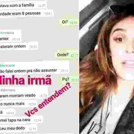 A apresentadora publicou nas redes sociais o post da conversa com a irmã - Reprodução/Instagram/@rafabrites - Reprodução/Instagram/@rafabrites