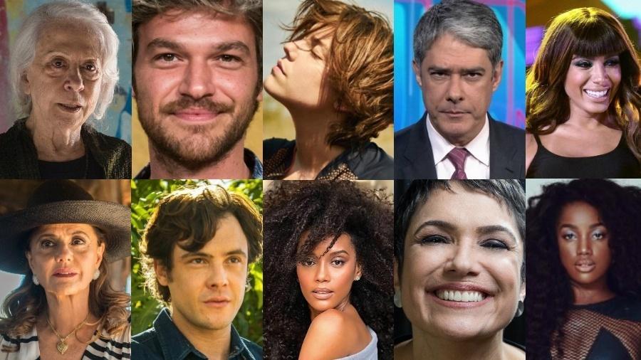 """Artista concorrem a prêmios no """"Melhores do Ano"""" - Montagem/UOL"""
