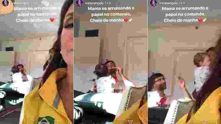 Ivete Sangalo mostra marido alimentando gêmeas - Reprodução/Instagram - Reprodução/Instagram