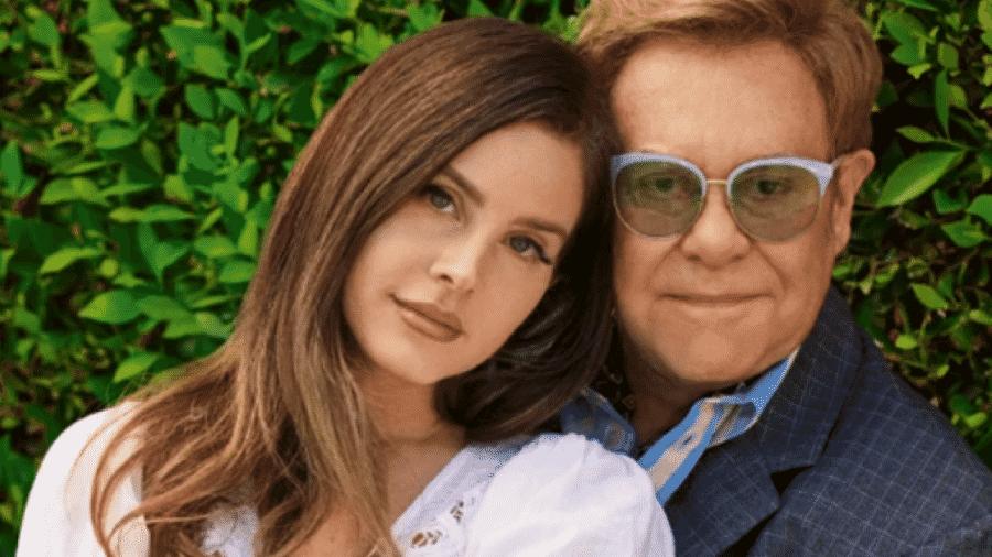 Lana Del Rey e Elton John posam para a Rolling Stone - Reprodução/Instagram