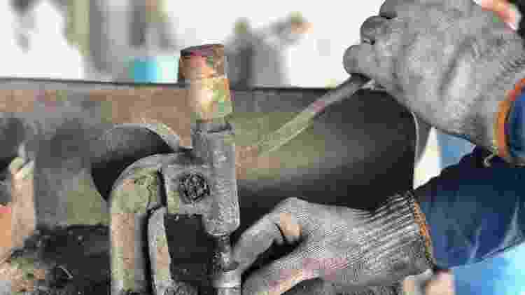 A castanha deve ser quebrada para retirar a amêndoa de dentro; quando era criança, Maria Cristina da Silva fazia o processo com pedaço de pau e pedra - José Ramalho/Divulgação