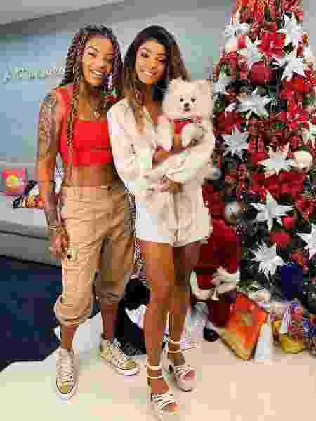 Ludmilla e Brunna Gonçalves na mansão delas no Natal - Reprodução/ Instagram