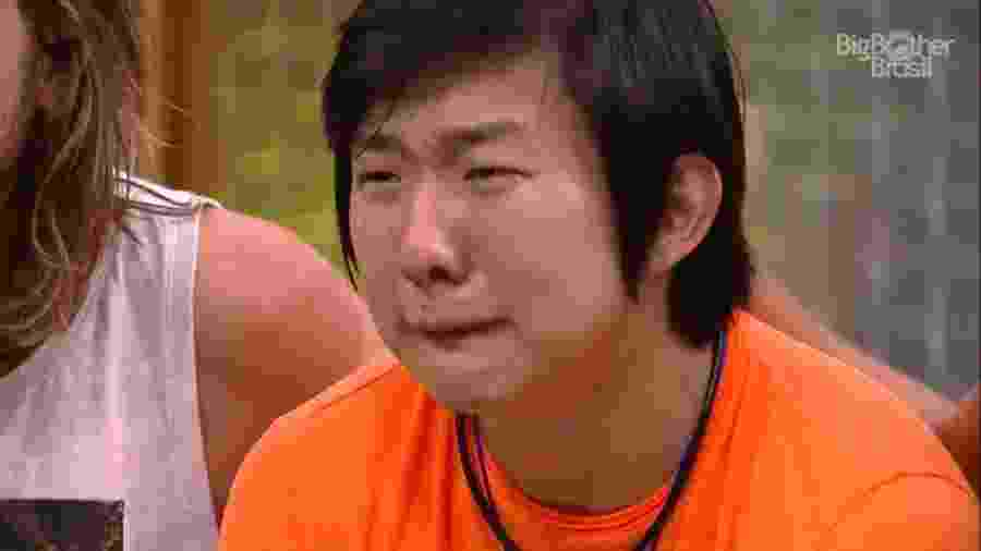 Pyong sentindo as emoções do confinamento - Reprodução/Globoplay