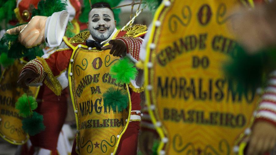 Desfile da Mocidade Independente de Padre Miguel no carnaval de 2020 - Júlio César Guimarães/UOL