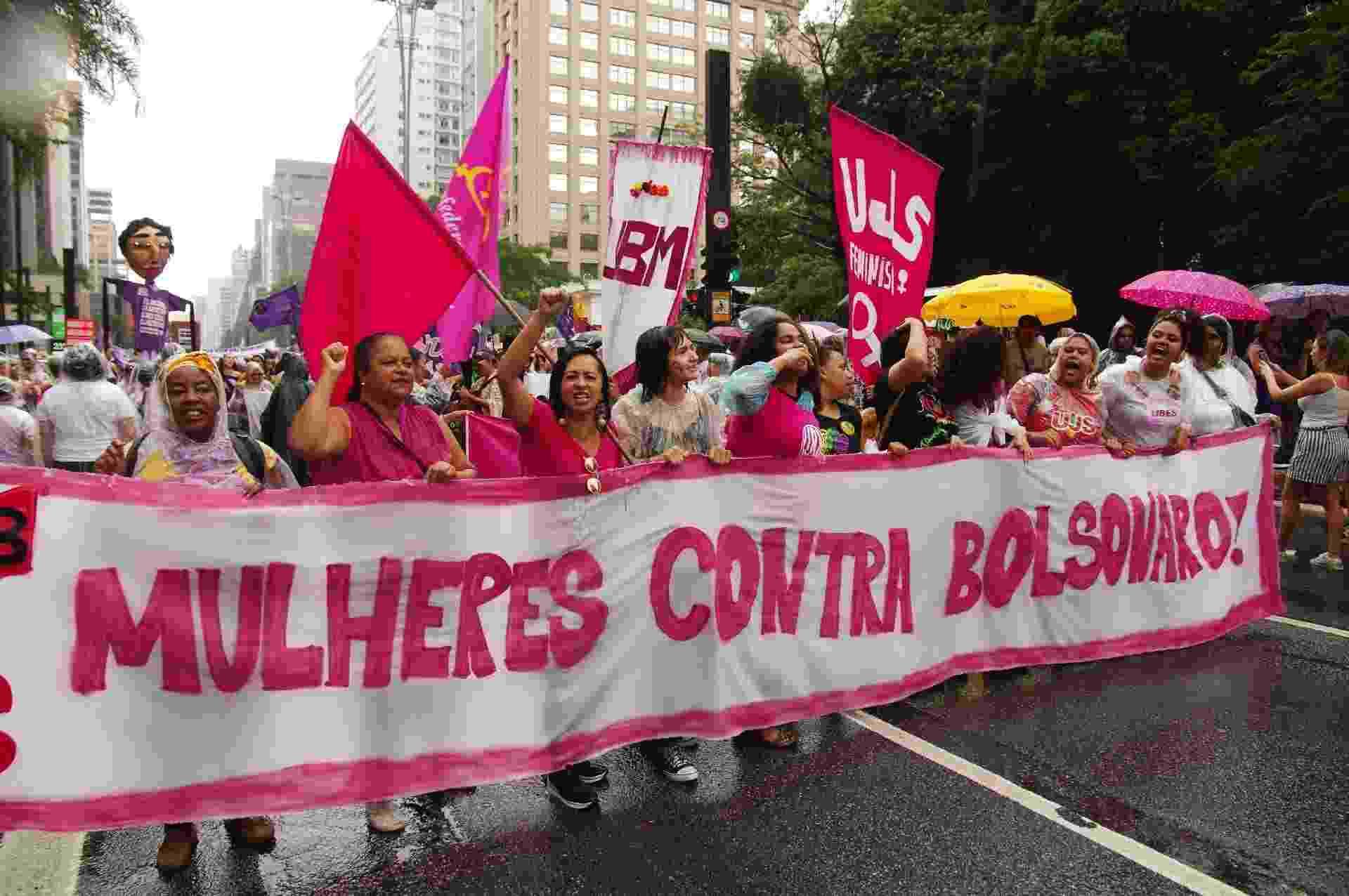 Dia Internacional da Mulher 2020 - protesto mulheres contra Bolsonaro - ROBERTO SUNGI/FUTURA PRESS/ESTADÃO CONTEÚDO