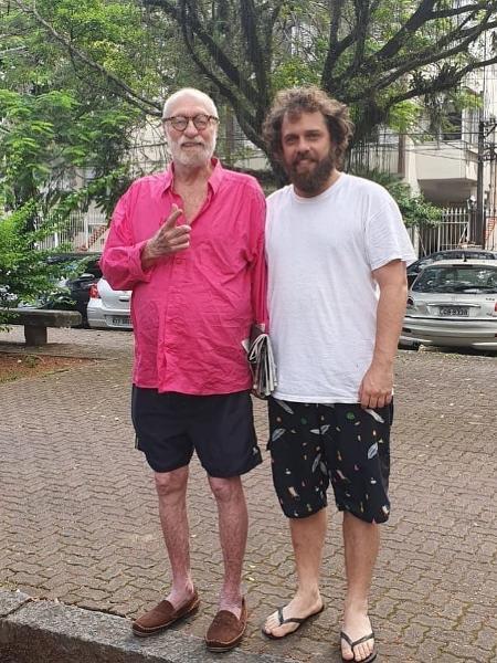 Paulo César Pereio e o filho João Velho - Reprodução/Instagram
