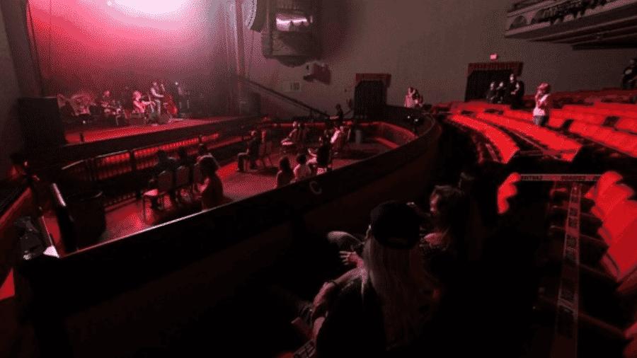 Show no teatro TempleLive, no Arkansas, o primeiro realizado nos Estados Unidos com distanciamento social - Divulgação/TempleLive