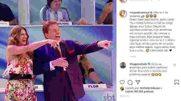 Lívia Andrade e Silvio Santos - Reprodução/Instagram - Reprodução/Instagram