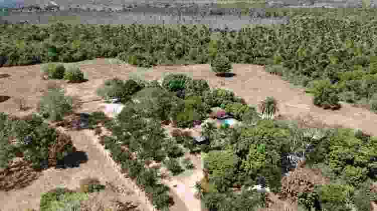 Visão aérea da casa em em Santa Terezinha, em Mato Grosso - Divulgação - Divulgação