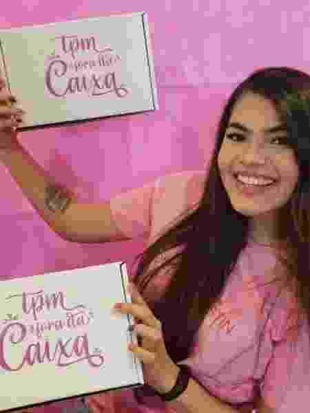 Hélica Pereira criou o @TPMForaDaCaixa, um serviço de assinatura que entrega doces e mimos para mulheres em casa - Divulgação - Divulgação
