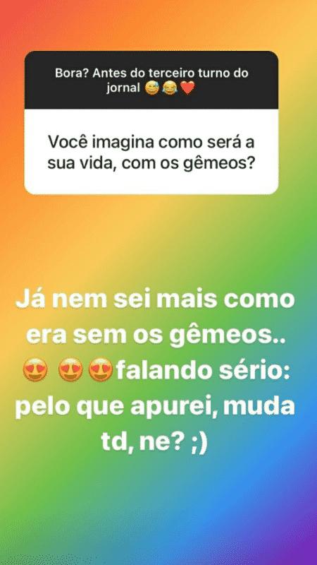 Story de Andreia Sadi - Reprodução/Instagram - Reprodução/Instagram