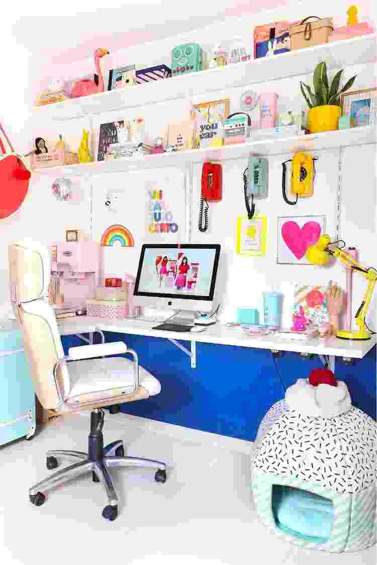 Home office do apê de Matheus Fernandes - Arquivo Pessoal - Arquivo Pessoal