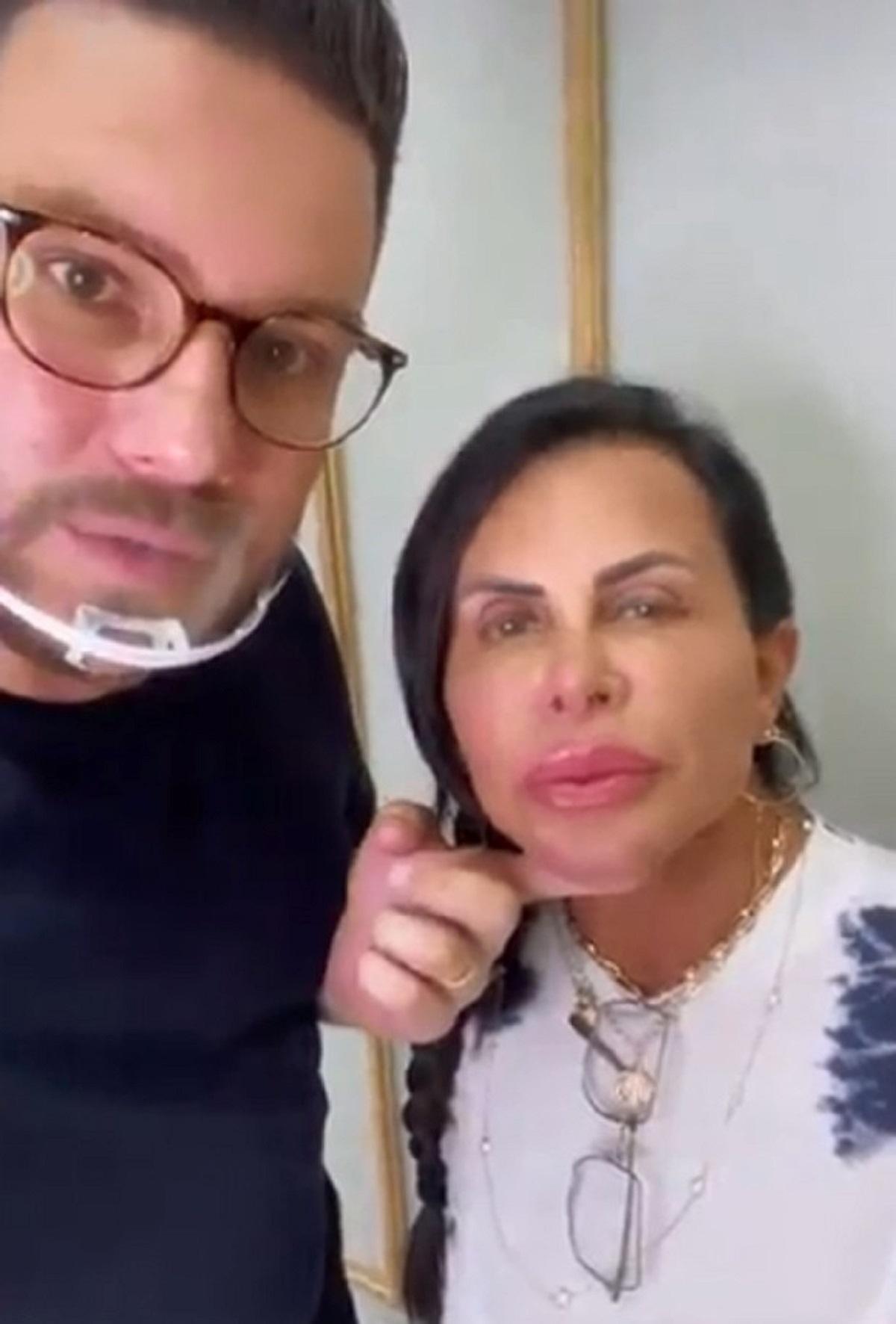 Gretchen mostra novos procedimentos estéticos que fez no rosto