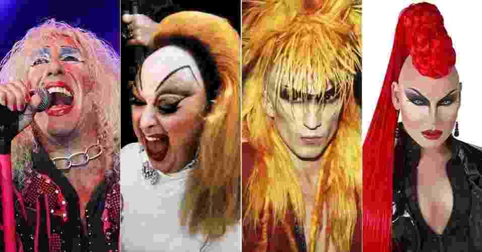 Roqueiros x drag queens - Divulgação/Getty Images