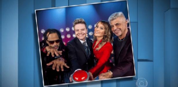 "Michel Teló é recebido pelos colegas do ""The Voice"""