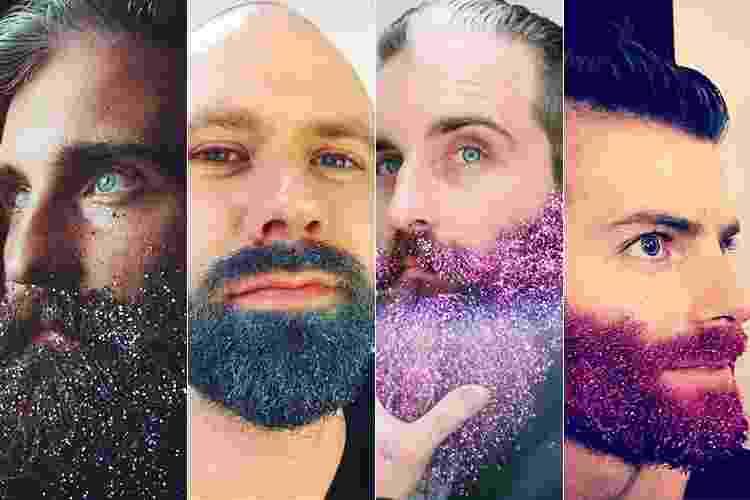 Barbas com glitter - Reprodução/Instagram