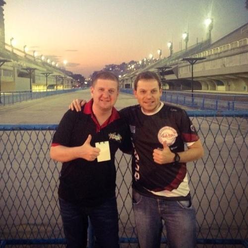 05.01.2016 - Ronny Potolski e Jairo Roizen posam na Marquês de Sapucaí, no sambódromo carioca