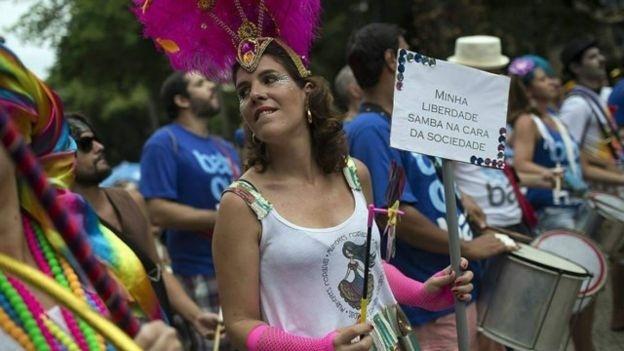 Renata Rodrigues, uma das fundadoras do bloco das Mulheres Rodadas