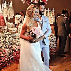 03.out.2016 - Gustavo Lima e Andressa Suita se casam com festa luxuosa em Minas Gerais - Reprodução/Instagram luxodefesta