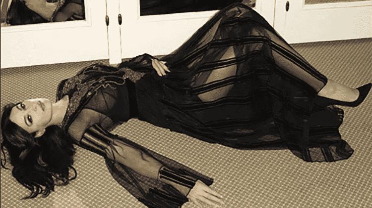 a atriz monica bellucci em foto de Terry Richardson para a revista GQ italiana em fev de 2017 - Reprodução/Instagram - Reprodução/Instagram
