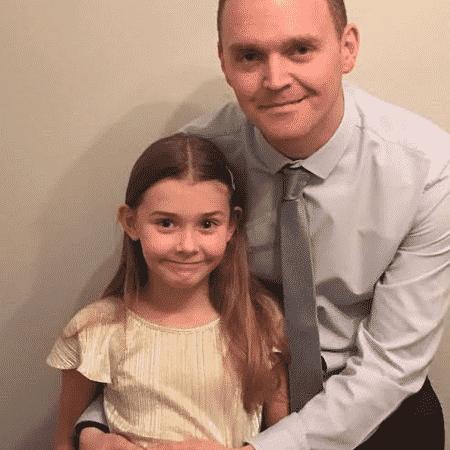 Andy e sua filha Chloe - Arquivo pessoal