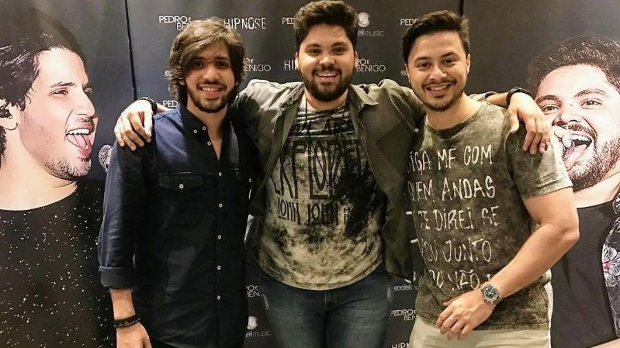 """Pedro, Benício e Poeta formam a """"dupla de três"""" - Divulgação"""