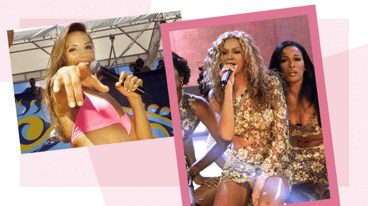 Ivete na época da Banda Eva e Beyoncé ainda no Destiny's Child - Arte UOL/Otávio Oliveira/Folha Imagem/Reuters