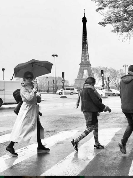 Bárbara Paz e Paris - Reprodução/Instagram