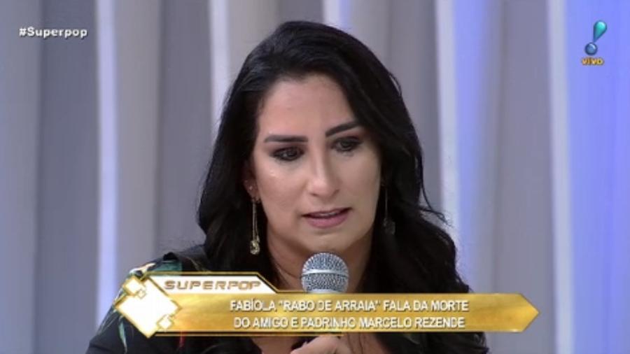 """Fabíola Gadelha no programa """"Superpop"""" - Reprodução/Rede TV"""