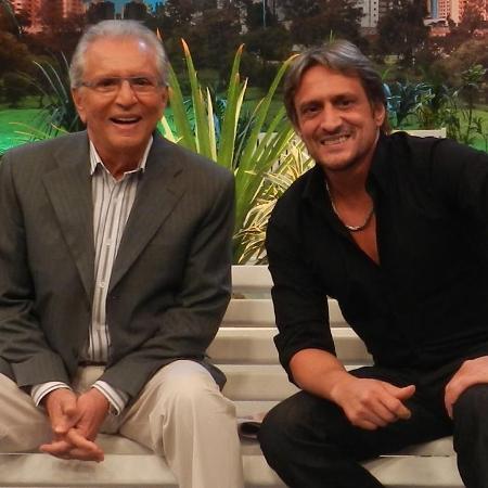 Carlos Alberto e Marcelo de Nóbrega, seu filho e diretor de A Praça é Nossa - Reprodução/Facebook