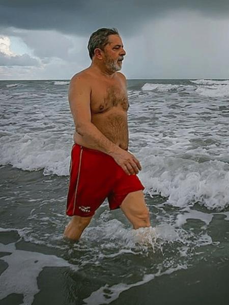 O ex-presidente Lula em foto compartilhada na quinta (12) - Reprodução/Instagram