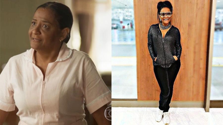 """Claudia Di Moura, a Zefa de """"Segundo Sol"""", é estilista - Reprodução Globo e Instagram"""