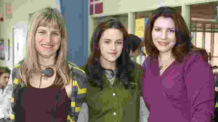 """Catherine Hardwicke, Kristen Stewart e Stephenie Meyer no set de """"Crepúsculo"""" - Divulgação - Divulgação"""