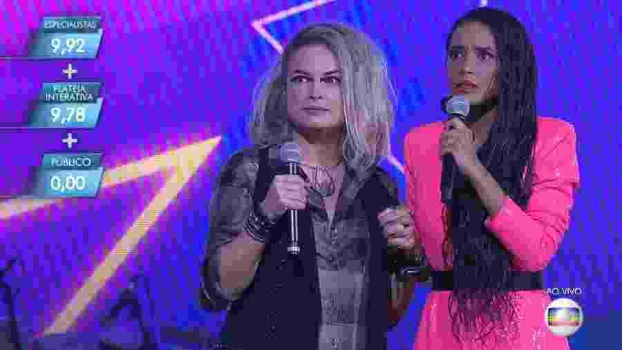 """Lua Blanco e Tais Araújo no """"PopStar"""" deste domingo (14) - Reprodução/Globo"""
