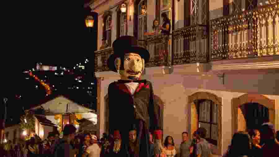 Bonecos gigantes do Carnaval de Ouro Preto - Ane Souz/Divulgação