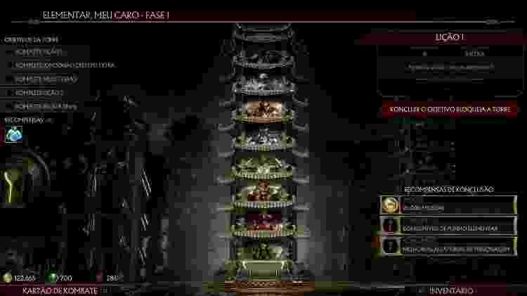 Comece pela torre A Manopla - Reprodução