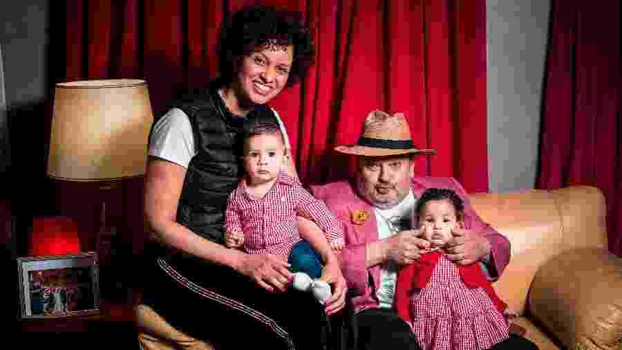 Rosangela e Erick Jacquin com os filhos - Lucas Seixas/UOL