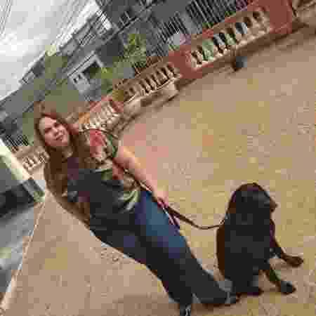Carla passou por treinamento antes de conhecer Buster - Arquivo Pessoal